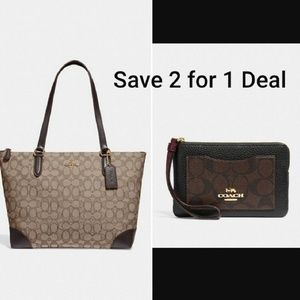 💯 Authentic Coach  2 for 1 Price Sale NWT